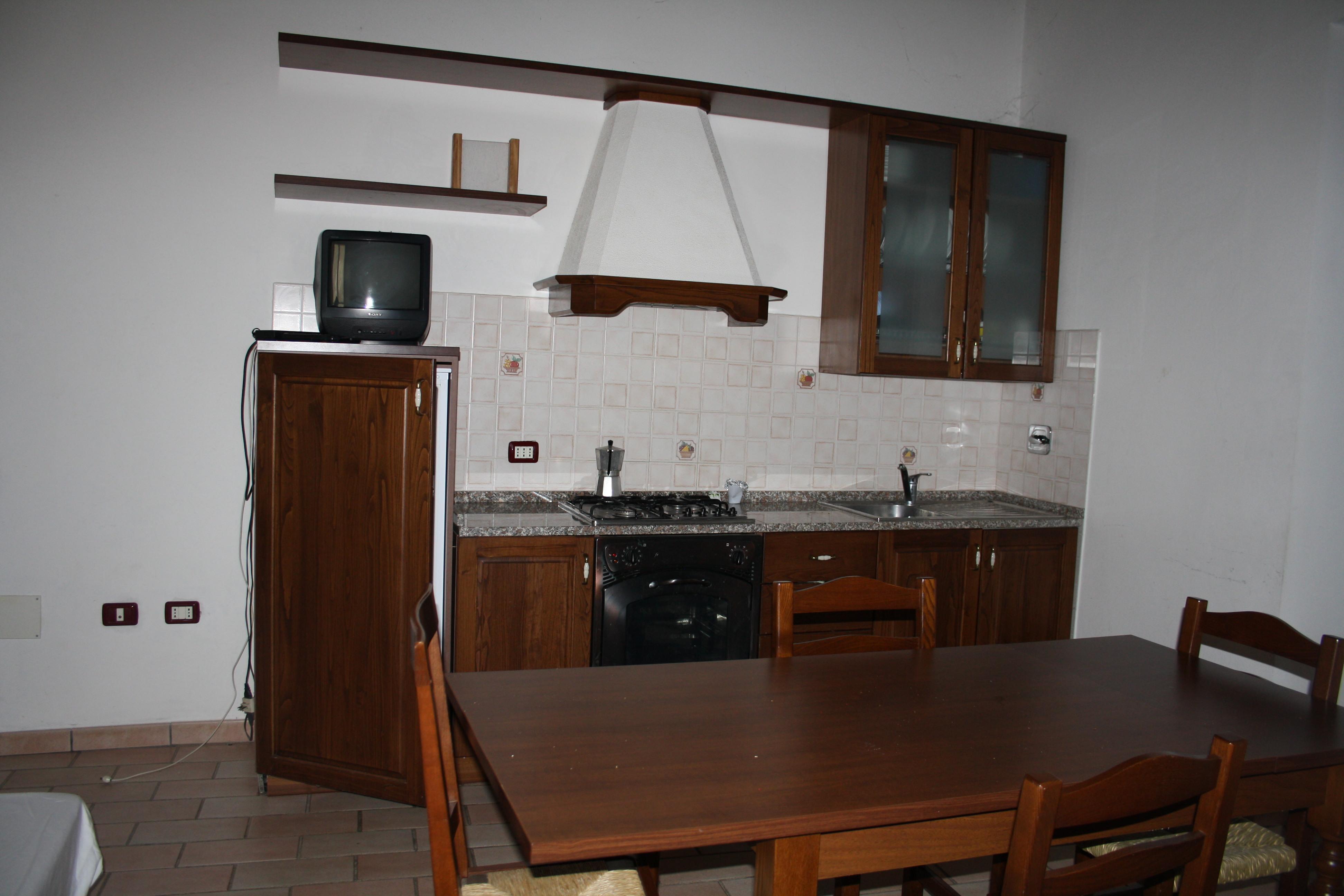 Cucina Appartamento Rosso