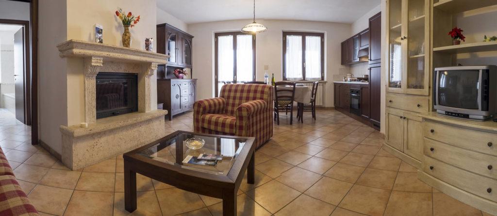 Appartamenti con camino per vacanze a Todi
