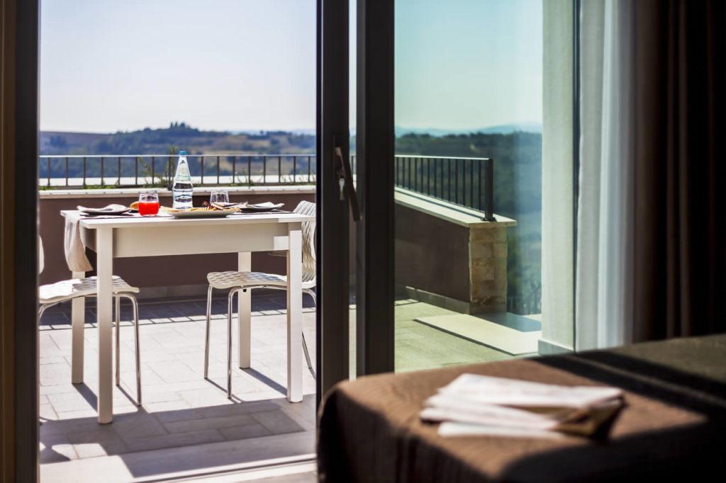 Camere con terrazzo panoramico a Todi