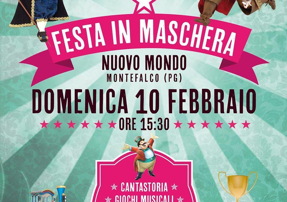 Festa in Maschera al Nuovo Mondo di Montefalco