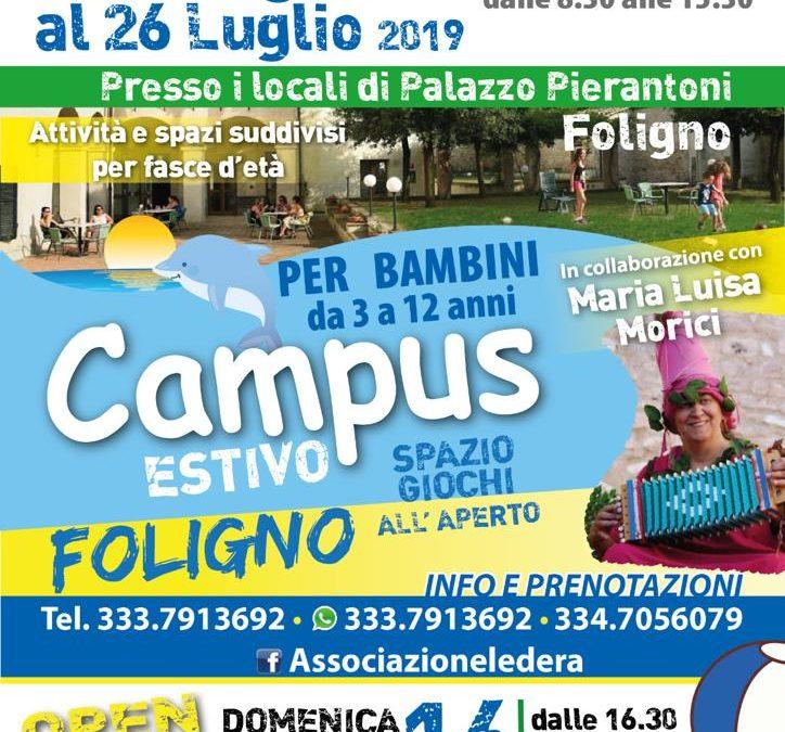 OPEN DAY: Il Campus Estivo del centro storico di Foligno con Maria Luisa Morici!