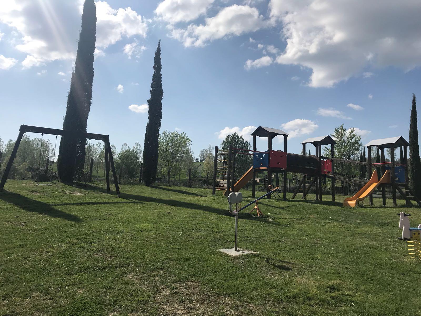 Parco giochi per bambini in gita in Umbria