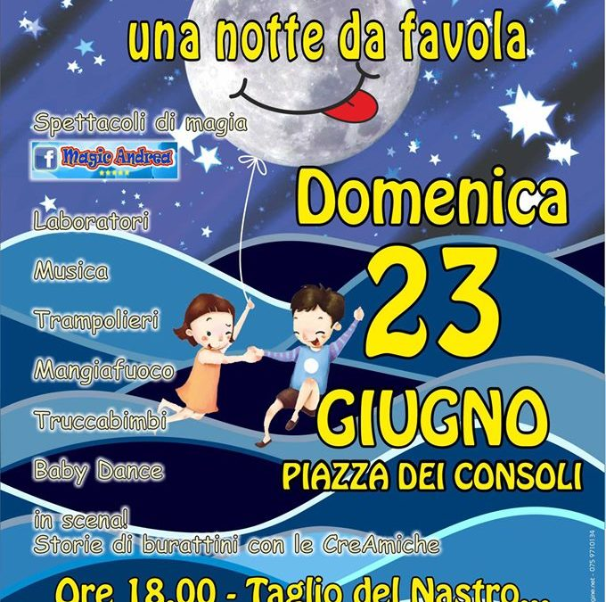 Notte da favola a Deruta per famiglie: spettacoli a misura di bambino