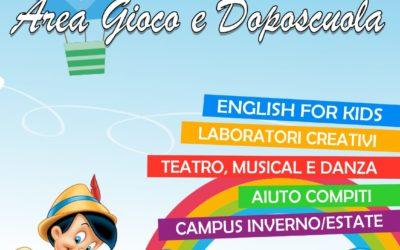 Area gioco, doposcuola e campus invernale a Foligno: IL SOGNO DI PINOCCHIO