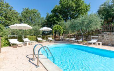 2 GIUGNO in appartamenti con piscina, giardino e barbecue vicino Assisi