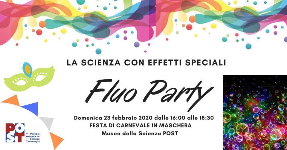 Festa Fluo di Carnevale per bambini al POST di Perugia