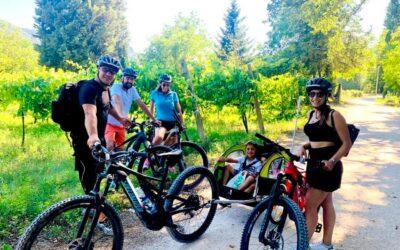 Noleggio E-Bike in Valnerina con carrello per bambini!