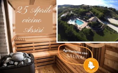 Ponte del 25 APRILE in Agriturismo vicino Assisi con Sauna