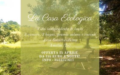 Pacchetto 25 APRILE in Villa ad uso esclusivo in Paglia e Legno in Umbria