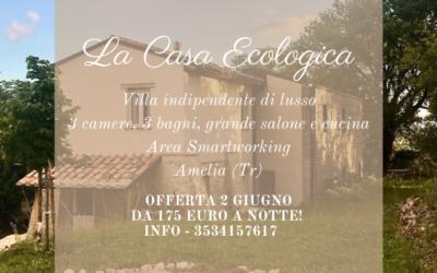 Ponte 2 GIUGNO in Villa per 10 persone a 1 ora da Roma