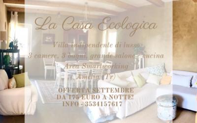 Vacanze di SETTEMBRE in Villa di paglia a 1 ora da Roma