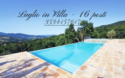 Lastminute LUGLIO in Villa con piscina in Umbria ad uso esclusivo!