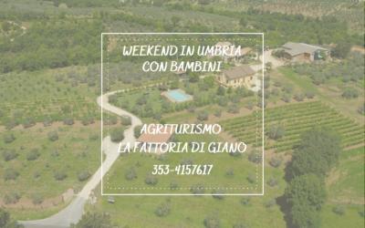 WEEKEND con bambini in Umbria in Agriturismo con Ristorante, Piscina e Fattoria!