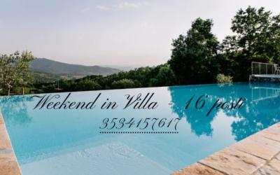 WEEKEND in Villa privata con piscina in Umbria ideale per 16 persone