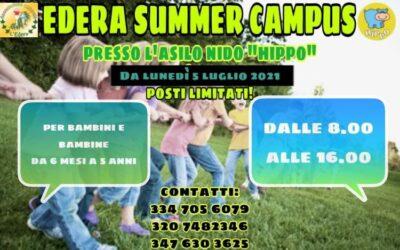 Campus estivo a Foligno Edera Summer da 0 a 5 anni!